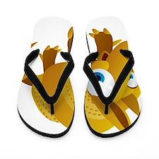Cartoon Armadillo Flip Flops