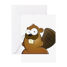 Cartoon Beaver Greeting Card