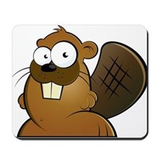 Cartoon Beaver Mousepad