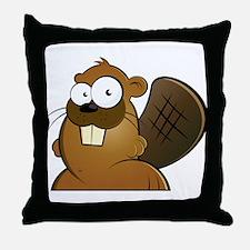 Cartoon Beaver Throw Pillow
