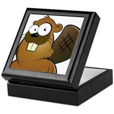 Cartoon Beaver Keepsake Box