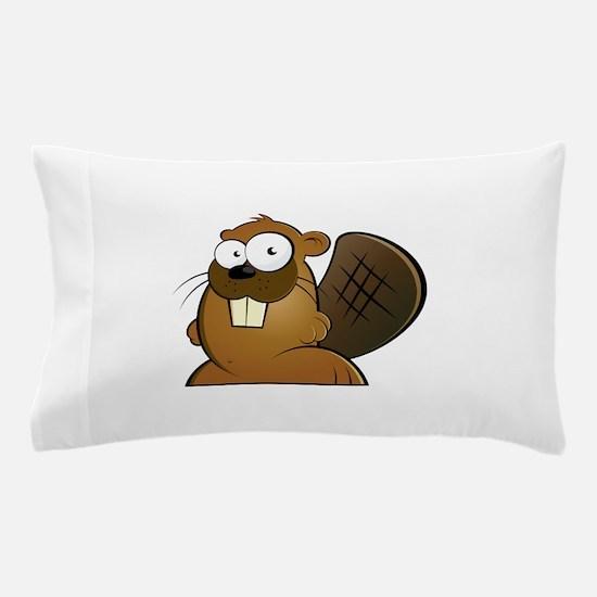 Cartoon Beaver Pillow Case