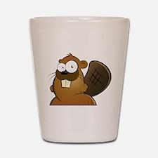 Cartoon Beaver Shot Glass