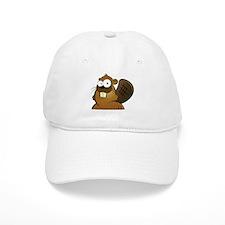 Cartoon Beaver Baseball Baseball Cap