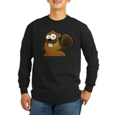 Cartoon Beaver Long Sleeve T-Shirt