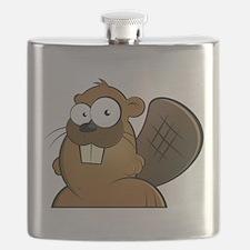 Cartoon Beaver Flask