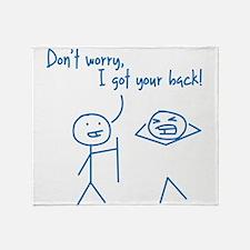 Unique Funny I Got Your Back Stick Figures Throw B