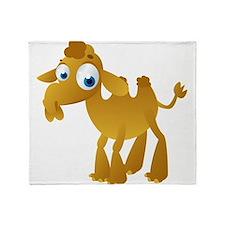 Cartoon Camel Throw Blanket