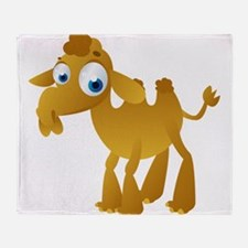 Cartoon Camel Throw Blanket