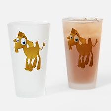 Cartoon Camel Drinking Glass