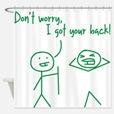 Unique Funny I Got Your Back Stick Figures Shower