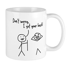Unique Funny I Got Your Back Stick Figures Small Mugs
