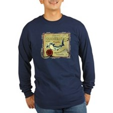Hammerhead Long Sleeve Navy T-Shirt