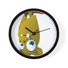 Cartoon Bat Upside Down Wall Clock