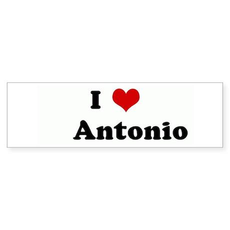 I Love Antonio Bumper Sticker