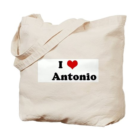 I Love Antonio Tote Bag