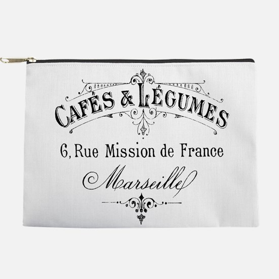 French Typography Paris Cafe Makeup Pouch
