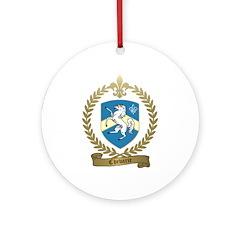 CHEVARIE Family Crest Ornament (Round)
