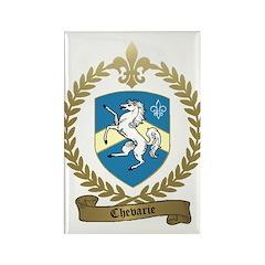 CHEVARIE Family Crest Rectangle Magnet (10 pack)