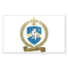 CHEVARIE Family Crest Rectangle Decal