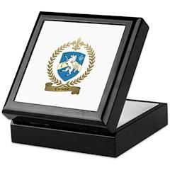 CHEVARIE Family Crest Keepsake Box