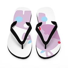 Purple Baby Cow Flip Flops