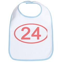 Number 24 Oval Bib