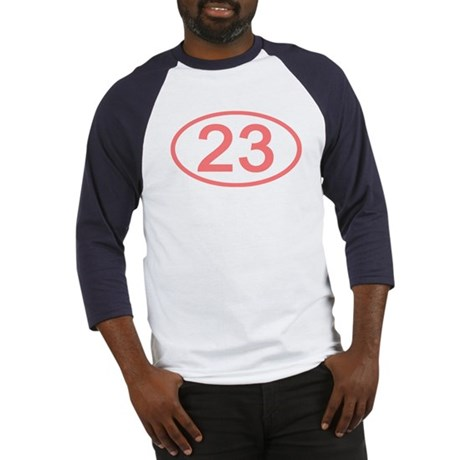 Number 23 Oval Baseball Jersey