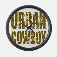 Urban Cowboy Large Wall Clock