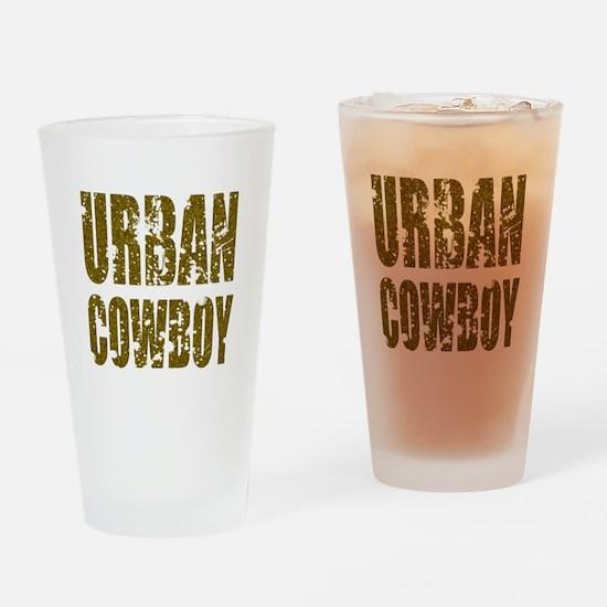 Urban Cowboy Drinking Glass