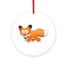 Cartoon Fox Ornament (Round)