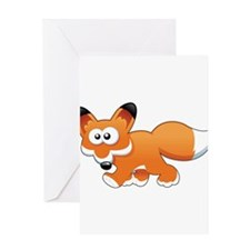 Cartoon Fox Greeting Card