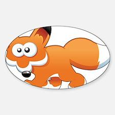 Cartoon Fox Decal