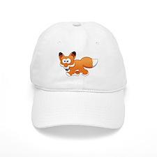 Cartoon Fox Baseball Baseball Cap