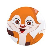 "Baby Fox 3.5"" Button"