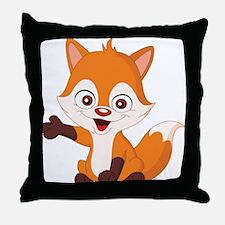 Baby Fox Throw Pillow