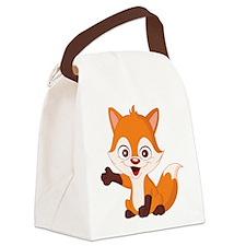 Baby Fox Canvas Lunch Bag
