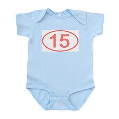 Number 15 Oval Infant Bodysuit