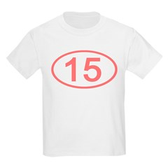 Number 15 Oval Kids T-Shirt