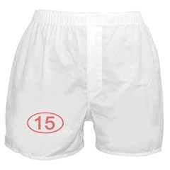 Number 15 Oval Boxer Shorts
