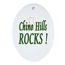 Chino Hills Rocks ! Oval Ornament