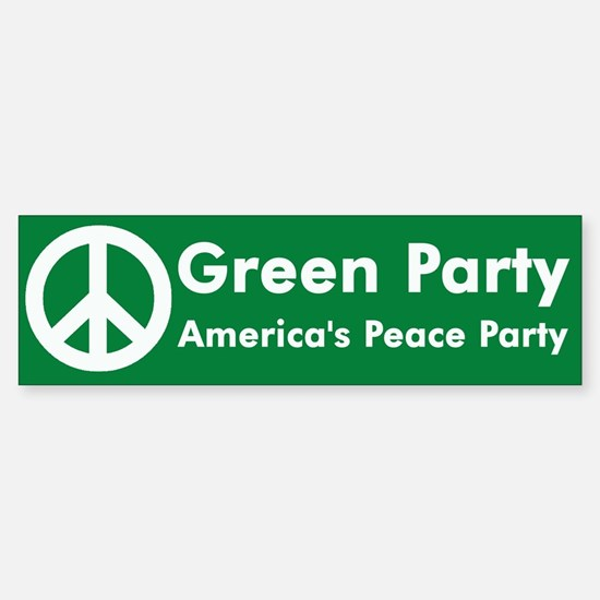 Green Party Peace Sign Bumper Bumper Bumper Sticker