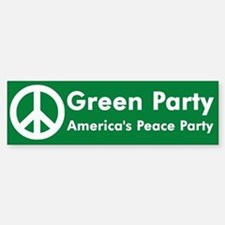 Green Party Peace Sign Bumper Car Car Sticker