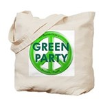 Green Party Peace Sign w/4 Pillars Tote Bag