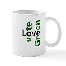 Love/Vote Green Mug
