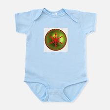 Red & Green Snowflake Infant Bodysuit