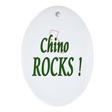 Chino Rocks ! Oval Ornament