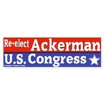 Ackerman for Congress Bumper Sticker