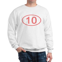 Number 10 Oval Sweatshirt