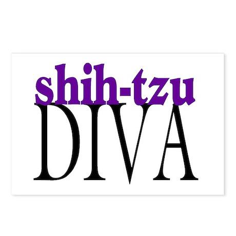 Shih-tzu Diva Postcards (Package of 8)